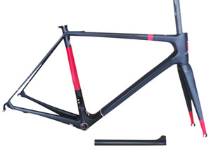 Cadre de vélo de carrelage de carrelage en carbone rouge brillant rouge brillant UD Set Super Light Just 850g Poids Nouveau