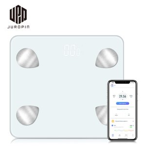 Guangzhou Juropin 2020 Trending Hot Saling Household Weighing Bathroom Scales 180kg Smart Bluetooth Body Fat Scale With Fitness App