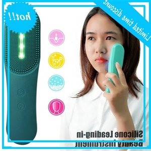 Electric Waterproof Photon LED Light Therapy Silicone Facial Cleansing Brush