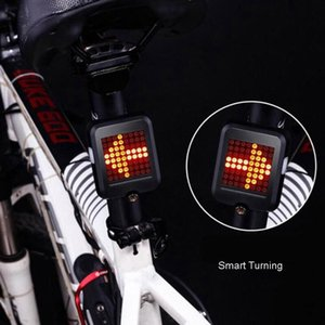 Smart Bike Turning Signal Cycling Taillight Intelligent USB Bicycle Rechargeable Rear Light Remote Control LED Warning Lamp Auto