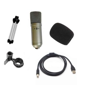 Recording Universal Studio Playing Games Aluminum Alloy For Mobile Computer Singing Low Noise Condenser Microphone USB Wired