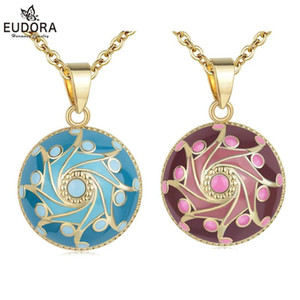 EUDORA 20mm Pink  Blue Ball Mexico Harmony Ball Chime Sound Bola Pendant Necklace for Mother Child Maternity Women Jewelry B347