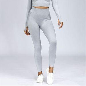 Kadın Spor Skinny Tayt Moda Trend Spor Yüksek Bel Rahat Koşu Pantolon Kadın Dikişsiz Örgü Fitness Yoga Ince Spor Giyim