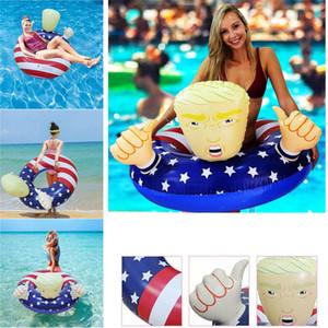 Trump Schwimmen Ring-Kreis-Schlauchboot für Erwachsene Sport im Freien Lustig Pool-Party-Spielzeug Kinder Schwimmweste ZZC1220