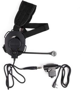 Z Tactical Bowman Miltary Casque Mic avec Kenwood Pin Radio PTT Headset Adaptateur Câble Rightleft Oreille Porter