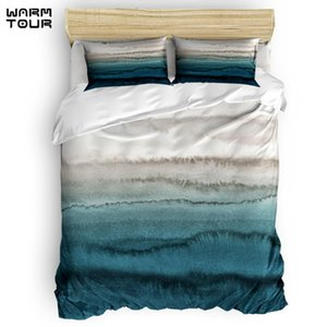 Bedding Sets WARMTOUR Duvet Cover WITHIN THE TIDES - CRASHING WAVES TEAL Set 4 Piece For Beds