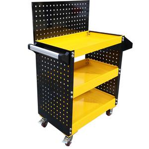 Гаражный инструмент Шкаф Трехслойное обслуживание Автомобиль с материалом Подвесные пластины Универсальные колесные движущиеся части