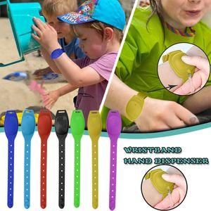 Reusable Wristbands 5PC Adult Kid Liquid Wristband Hand Sanitizer Dispenser Handwash Gel With Whole Sanitizing Wrist Support