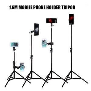 1,6m Telefone celular tripé fotográfico do produto titular do telefone acessórios 1/4 Cabeça de parafuso tripé de câmera1