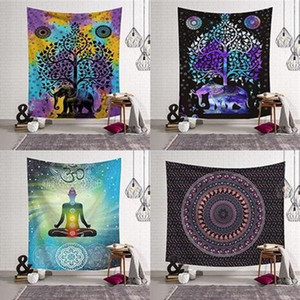 Mandala Style Artistic Beach Towel Polyester Fiber Multi Design Rectangle Decoration Pad Outdoor Swimming Shower Towels New 17ls L2