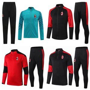 20 21 AC SOSO Futebol terno treinamento CALHANOGLU jaqueta 2,020 2,021 Milan Polo treino survêtement futebol IBRAHIMOVIC Paquetá Sportswear