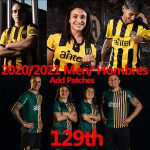 Uruguay Penarol Soccer Jerseys New Home 129th Tommorative Edition 2020 2021 Club Atlético Peñarol C.Rodriguez Gargano Men Football Shirts
