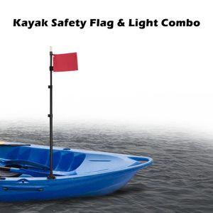 Luz de la luz de la bandera de seguridad de KAYAK Lámpara de luz impermeable para el barco marino Accesorios de canoa