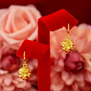 Cute for Women Wedding Engagement Korean Hollow Ball Shape Elegant Clip Earring 14k Gold Jewelry Gift