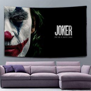 Movie poster clown Joker personalized large black tapestry student bedroom studio custom background cloth