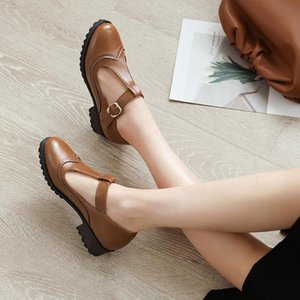 Lapolaka 2020 Hot Sale Chunky Heels Comfortable Shoes Woman Pumps Buckle Strap Dropship Spring Leisure Pumps Women Shoes