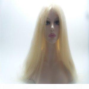 # 613 Blonde recto indio de la Virgen de Remy del pelo humano del 100% del cordón frontal completa la peluca de la peluca hizo pelucas de cabello humano encaje completo Kabell WIGS JUDIOS