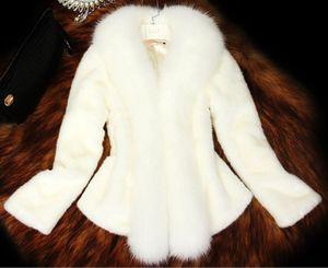 Inverno Novo 2020 Casaco de Pele Mulheres Mid-Length Mid-Length Imitation Casaco curto parece fino e magro