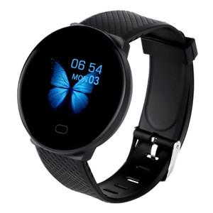 Yeni D19 Akıllı Bant Saatler Spor Tracker Ip67 Su geçirmez Tansiyon Nabız Smartwatch Toptan