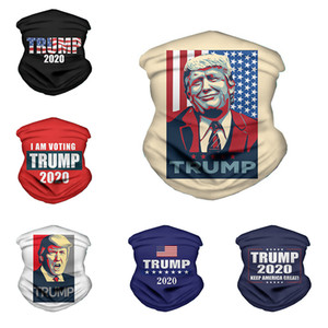 36 styles 2020 Trump Triangle écharpe magique président américain Trump Election Bandana multifonctions Sport Vélo Tubular Couvre-chef Masques Visage