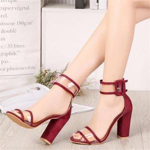 Große Größe der Frauen Sandalen 2021 sehen neue Schuhe in High Heels, transparente Mode-Sandalen, Frauen-Hausschuhe. 8E6J.