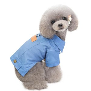 Teddy Cotton Casual Jacket Cowboy Cool Puppy T-shirt Dog Clothes Pet Clothing Small Dog Warm Winter Clothe Dog Coat Pupp sqcEgA
