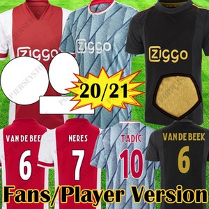 2020 2021 AJAX FC Version joueur Version Fans Jerseys Soccerys Ajax 50ème anniversaire Chemises 20 21 Kits de football Tadic Kids Enfants Jeunesse Football Uniforme Tops
