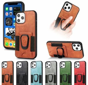 2020 Pu Leather Phone Case Cover With Magnetic Ring Bracket Stand Holder For Iphone 11 12 Pro Max Xs Max X bbyPWd bde_home
