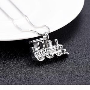 IJD10001 Personalized Mini Train Keepsake Urn Necklace Stainless Steel Memorial Cremation for Human Pet Ashes Holder Gift Jewelry