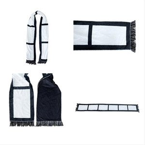 Blank Sublimation Printed Scarf White& Black Plaid Tassels Winter Thremal Heat Scarves Adult Kids Panel Plaids DIY Double Layers F110502