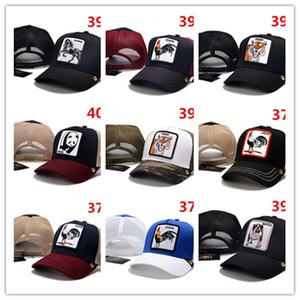 Mesh Snapback Caps Animals Embroidery Baseball Caps Men Women Snapback Hip Hop Hat Summer Breathable Mesh Sun Gorras Unisex