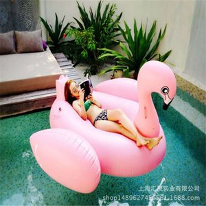 Factory Outlet Spot Hot Selling Original Genuine Net Red Inflatable Oversized Pink Flamingo Mount Floating Row