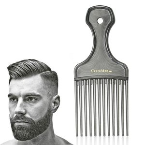 CestoMen Plastic Afro Fork Comb Wig Wave Hair Insert Hairbrush Detangling Comb With Wide Tooth Salon Hairdressing Styling Tool