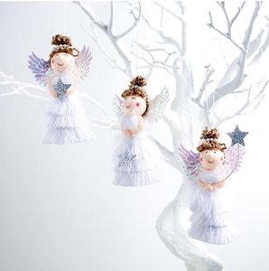 Lovely Angel Girl Doll Christmas Tree Pendants Hanging Ornaments Gifts Xmas New Year Party Decor Home Decoration DHL Shipping Free PPD4132