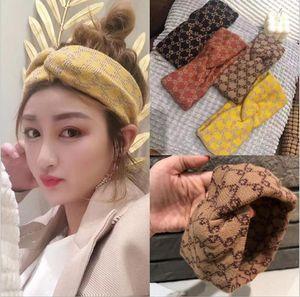 fascia per capelli lavoro a maglia 2020 di vendita caldo ins bordo largo spessore di flanella lavaggio personalizzato faccia fascia elastica accessori per capelli