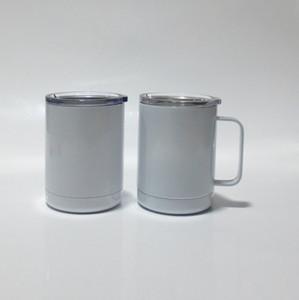 La moins chère 10oz sublimation vierge tasse de café bureau bureau double mur sublimation sublimation absolue sous vide buvant gobelet avec poignée EWD2261