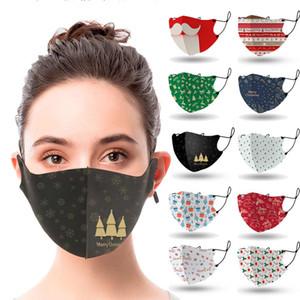 maschera progettista per adulti monouso ghiaccio seta maschera di design albero di Natale santaPrint bocca maschera nera di polvere Haze uomini donne maschera facciale