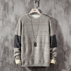 New Sweater Men Long Sleeves Autumn Winter Pullover Knitted O-Neck Plus Asian Size 5XL 201123