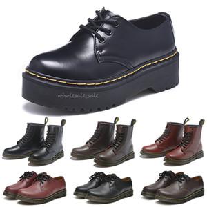 NUEVO DR Martins 2976 Botas para mujer Piel de cuero 1460 Botines de nieve de invierno Doc Shoes Martin Sneakers Triple Negro Blanco Red Hombres Mujeres