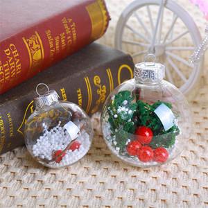 Adornos de bola de Navidad Bola transparente Bola Hollow Ball Niños Pequeños regalos Año Nuevo Decoraciones Restaurante Bar Decoraciones EWC3333