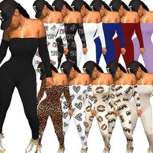 MUJERES DE MUJERES Ropa Moda Moda Sexy Color Sólido Pantalones Mono One Piece Pantería Pantalón Pantalón Impreso Pantalones G12105