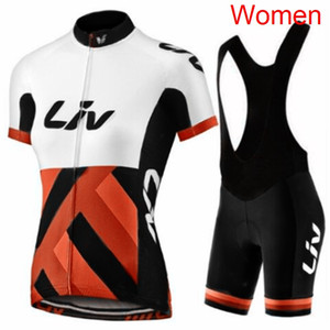 New Women LIV Team Summer Cycling Jersey Bib   Shorts Suit Tour de France Mountain Bike Clothes Outdoor Bicycle Sports Uniform Set Y20102001