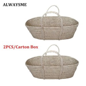 ALWAYSME 2PCS Carton Box Baby Kids Newborn Infant Coin Bran Bassinet Basket Baby Summer Protection Basket Car Safety Seats