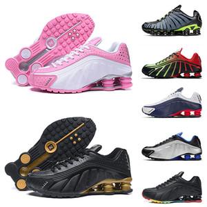 Мужчины Женщины на открытом воздухе работает спортивная обувь высшего качества Shox TL подушку розовый белый 301 черного золота ель аура Выделенная лайма тренеры кроссовки