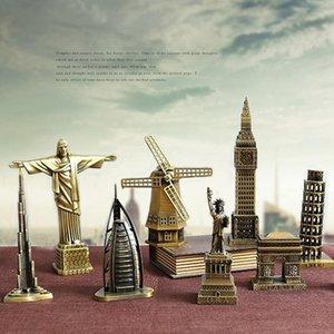 Ермакова Металл Всемирно известное здание архитектура модель статуя ориентир ориентир туристический сувенирный домашний офис украшения 201125