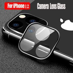 Camera Lens Protector для iPhone 12 Pro Max 12 Mini 11 Полный чехол для чехлашки + закаленный стеклянный экран протектор задней камеры пленки