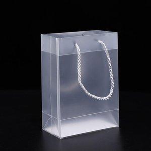 8 الحجم حقائب متجمد PVC هدية البلاستيكية التي تحتوي على مقابض للماء Rransparent PVC حقيبة واضح الحزب حقيبة يد الحسنات هدية التفاف GWF2611