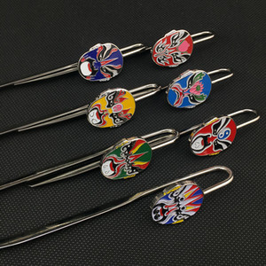 Creative Retro Metal Bookmark Chinese Peking Opera Gift Bookmarks with Gift Box