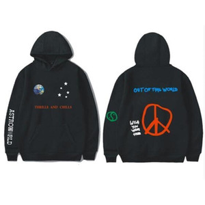 Hot 2020 Hot Brand Mens High Street Pullover Hoodies Women Casual Hooded Sweatshirts ASTROWORLD Smile Map Print Tops Mens Clothes