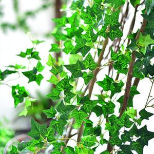 جديد الاصطناعي الحرير محاكاة تسلق فاينز الأخضر ورقة اللبلاب الروطان للمنزل ديكور بار مطعم الديكور